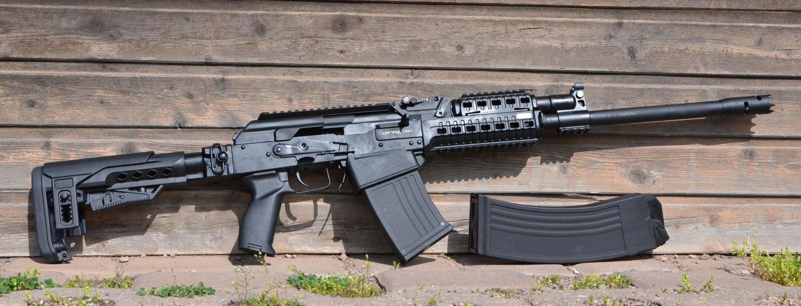 ARMSAN RS-S1 12/76 halbautomatische Flinte von rechts mit 5/10 Schuss Magazin