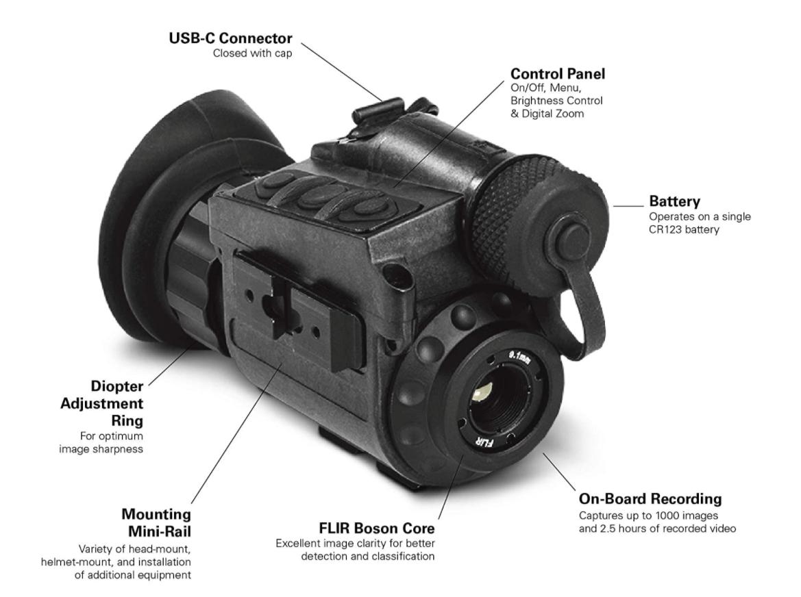 FLIR Breach® PTQ136 - Monokulare Wärmebildkamera