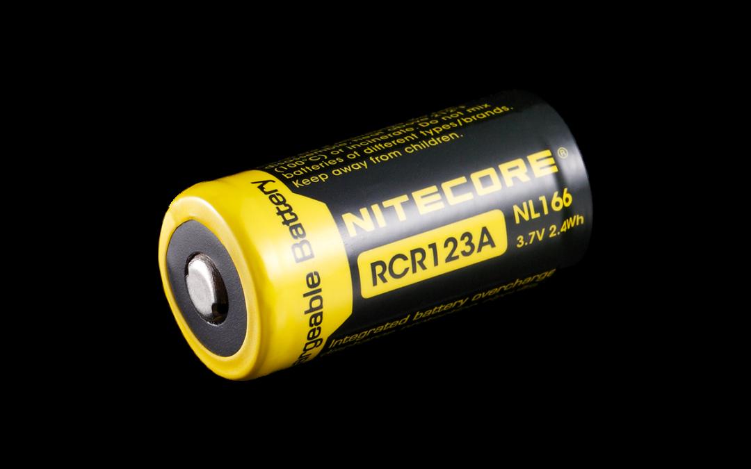 Nitecore Lithium-Ionen Akku 16340 (RCR123A) – Ersatz-Akku-Set