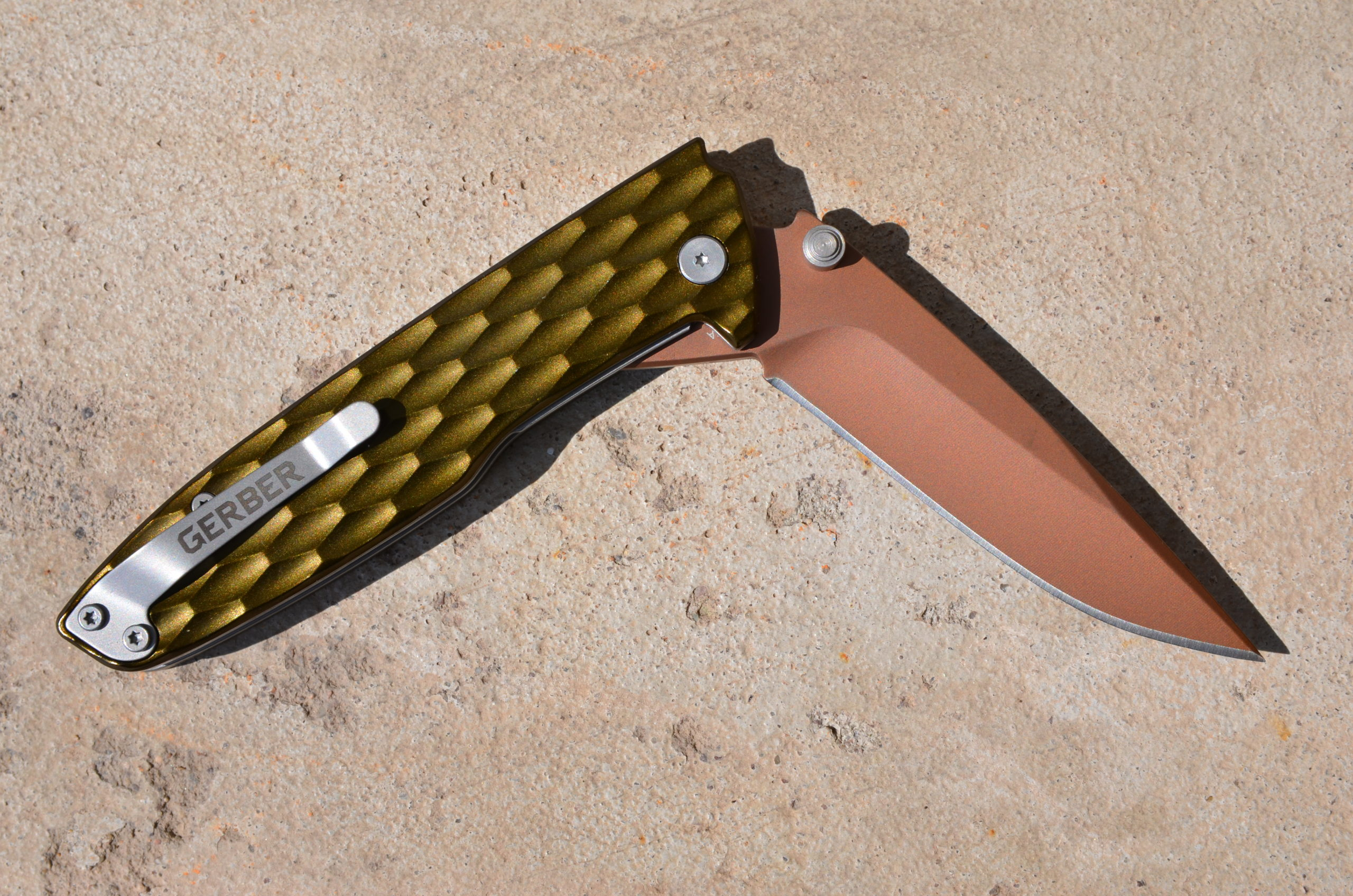 "Gerber® One-Flip 3.2"" Bronze Blade Green - Einhandmesser"