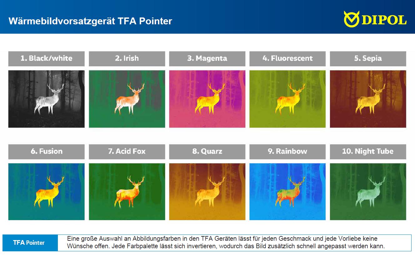Farbpaletten DIPOL TFA Pointer