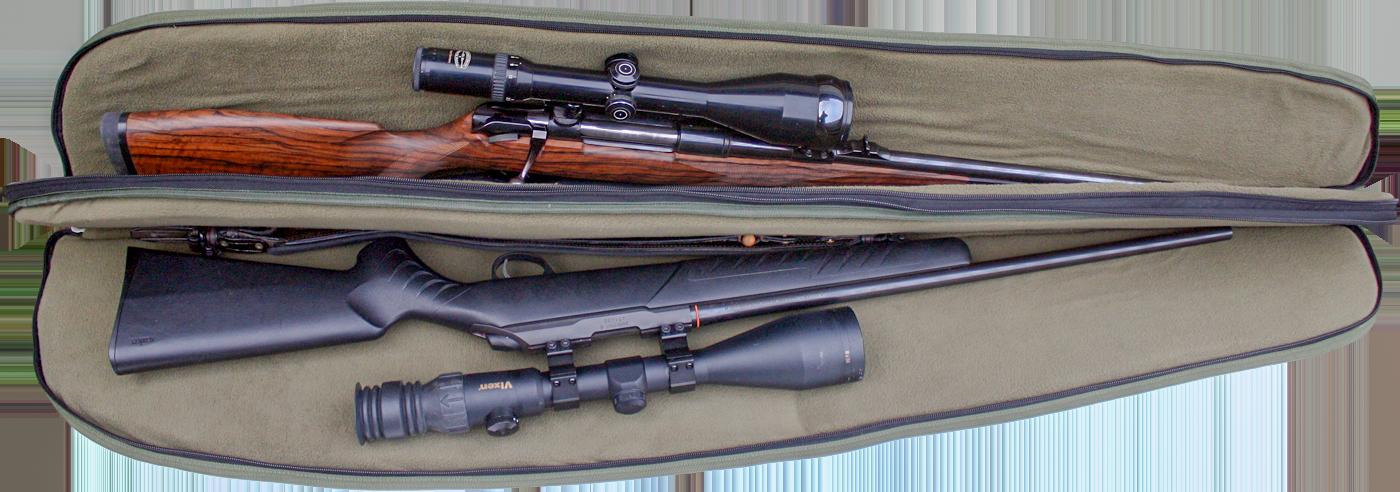EUROHUNT Spezialfutteral für 2 Langwaffen - Jagdwaffenfutteral