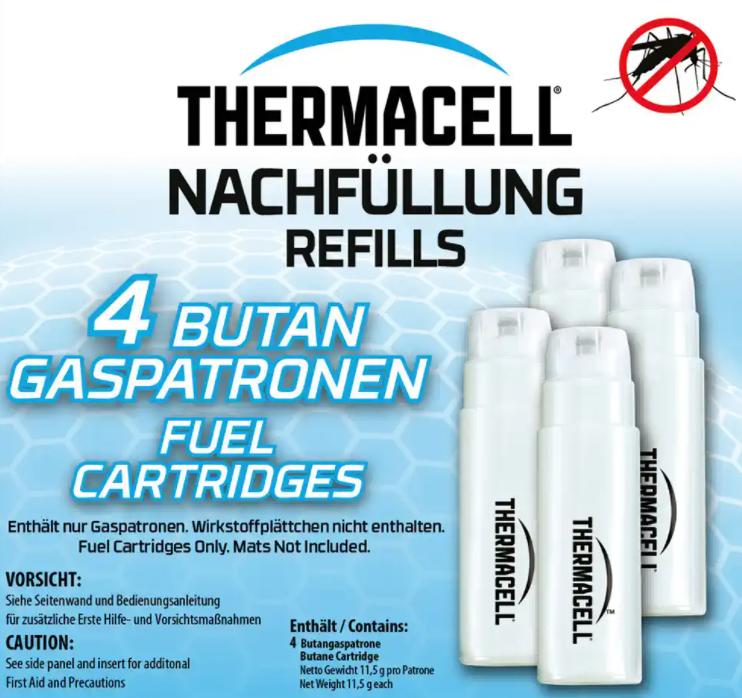 Thermacell® 4 Butangaspatronen Nachfüllpack 48 Std.