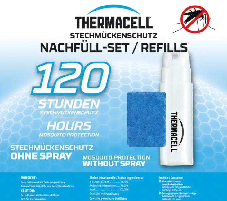 Thermacell® Nachfüllpack für Mückenabwehrgerät 120 Std.